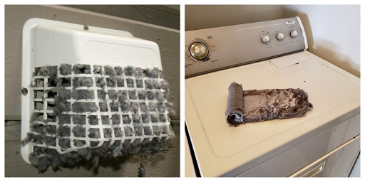 dryer vent professionally cleaned